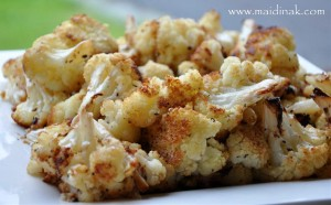 Balsamic & Parm Roasted Cauliflower
